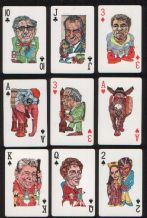 Collectible  American political playing cards Politicards 1980.